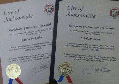 Jacksonville honorary citizenship
